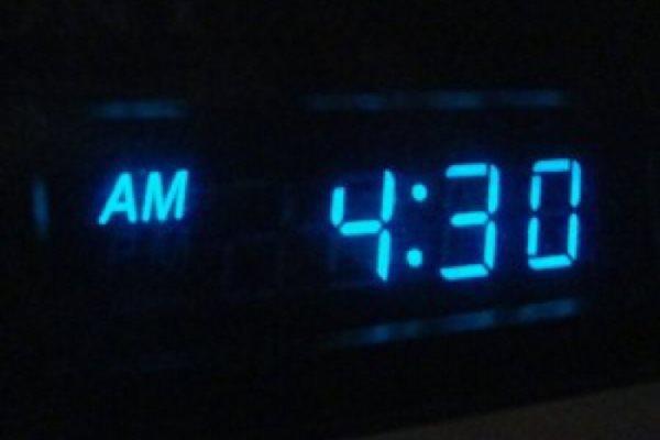 Сегодня ночью в 4:30 наша семья проснулась…