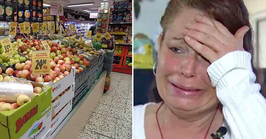 Мать 3-х детей поймали на краже продуктов