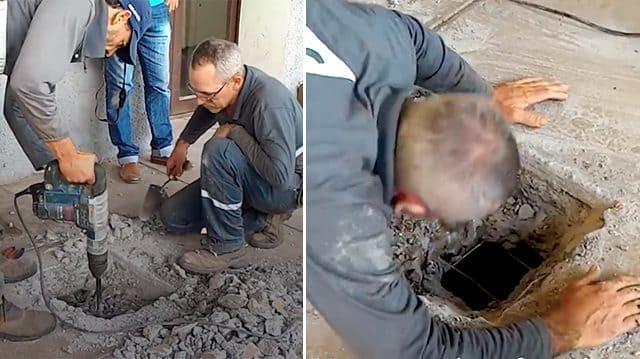 Люди услышали что под землей кто-то плачет и настояли, чтобы работники вскрыли бетонный пол…Этим они спасли много жизней!