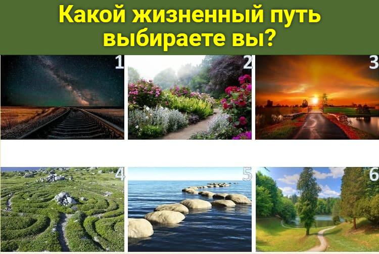 Какой жизненный путь выбираете вы?