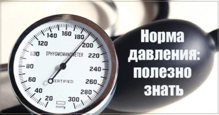 Какое давление в каком возрасте считается нормальным?