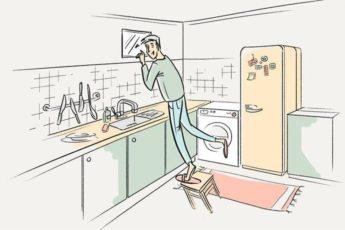 Зачем в хрущевках делали окно между ванной и кухней?