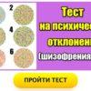 Армейский тест на психические отклонения(шизофрения и пр.)