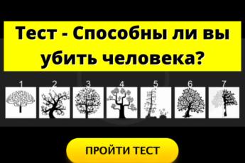 Тест - Способны ли вы убить человека?